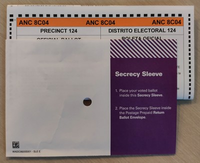 Ballot and Secrecy Sleeve